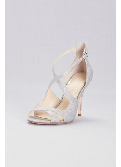 Jessica Simpson Averie Pumps - Double crisscross straps take this glittery pair of