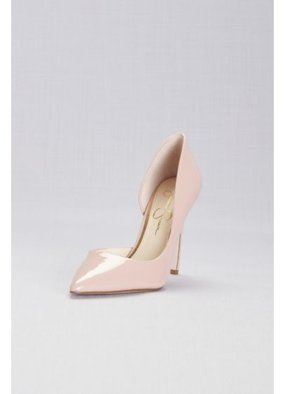 Jessica Simpson Pheona Pumps - This pair of sculpted patent pumps is shiny,