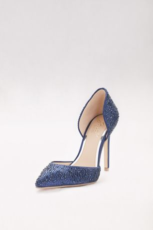 Crystal Embellished Satin pump