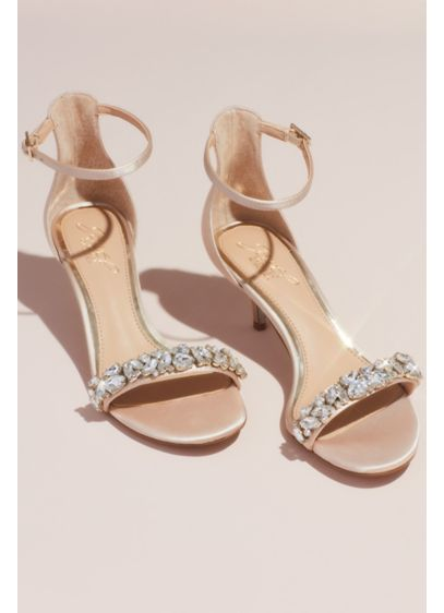 Crystal Strap Kitten Heel Sandals - These sleek and stunning sandals take a classic