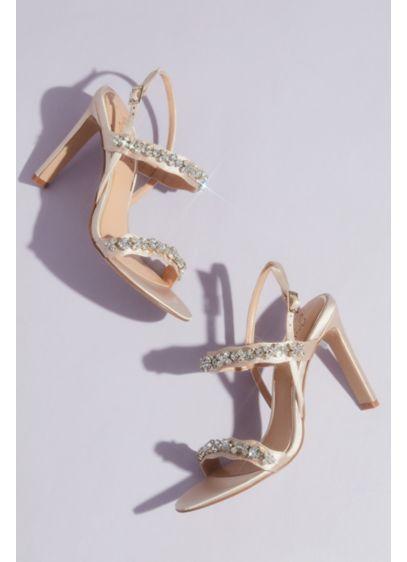 Jewel Badgley Mischka Ivory (Satin and Crystal High Stiletto Sandals)