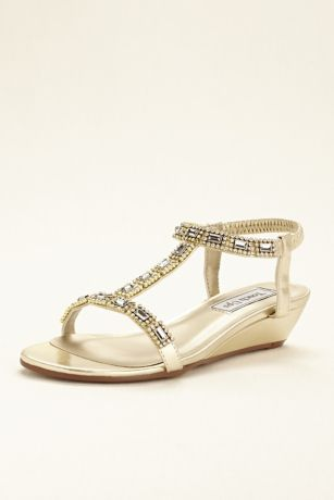 Touch Ups Grey;Yellow Heeled Sandals (Touch Ups Jazz Wedge Sandal)