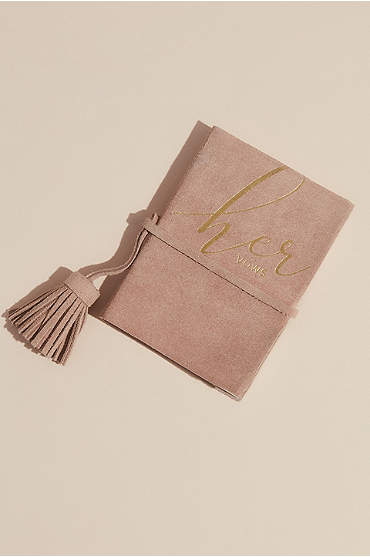 Suede Her Vows Vow Book with Tassel
