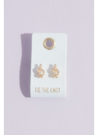 Tie the Knot Crystal Stud Earrings - Wedding Gifts & Decorations