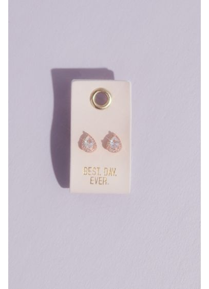 Best Day Ever Teardrop Stud Earrings - A classic stud with a big dash of