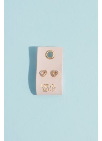 Love You Mean It Heart Stud Earrings - Wedding Gifts & Decorations