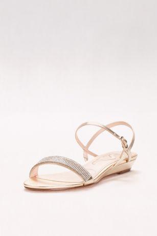 2b5a0e419c96 Find Glitter Band Quarter-Strap Mini-Wedge Sandals