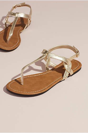 Twisty T-Strap Strap Flat Sandals