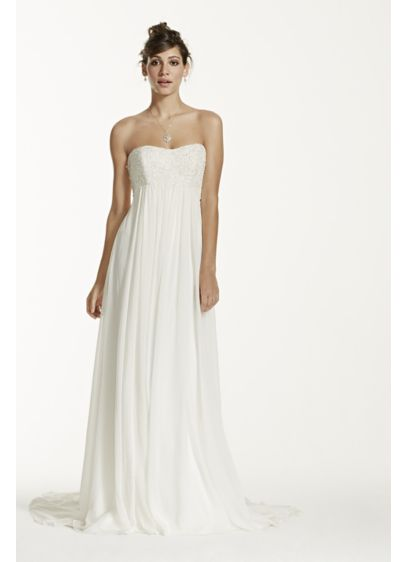 Long Sheath Simple Wedding Dress - Galina