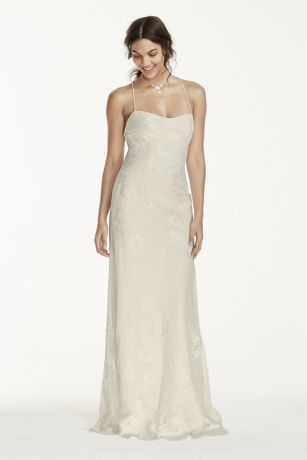 Low-Back Sheath Wedding Dress