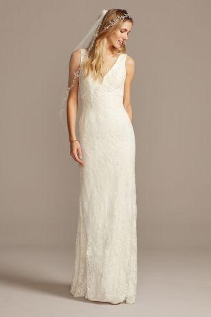 A Line V-Neck Empire Waist Wedding Dress