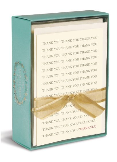 Boxed Thank You Note Cards - Wedding Gifts & Decorations