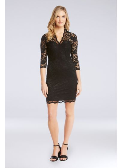 b908d0eff5 Short Sheath Long Sleeves Cocktail and Party Dress - Karen Kane