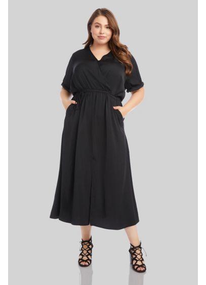 Tea Length Short Sleeves Cocktail and Party Dress - Karen Kane