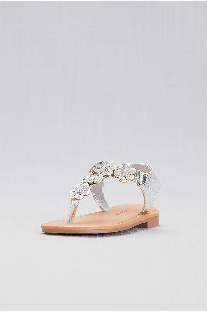 Toddlers Floral Thong Sandals - These cute, flower-topped thong sandals pair perfectly with