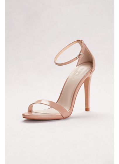 David s Bridal Beige (Patent High Heel Sandals with Ankle Strap)
