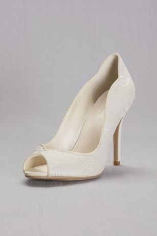 0ee4563290ea Lace Peep Toe Pump. LAYLA. David s Bridal ...
