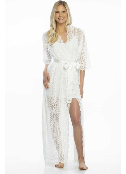 Sheer Lace Kimono Robe - Wedding Gifts & Decorations