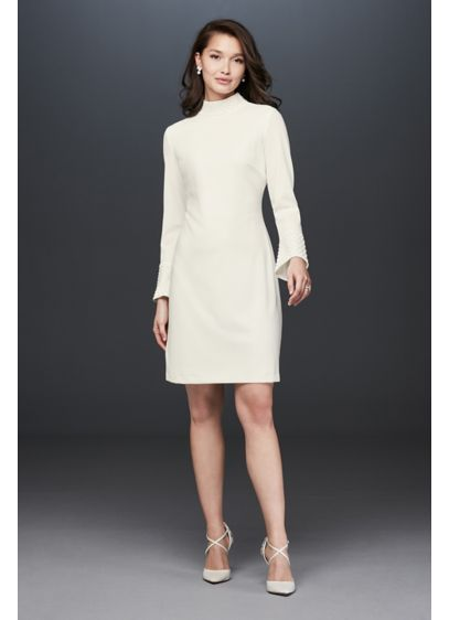 Short Sheath Casual Wedding Dress - Karl Lagerfeld Paris