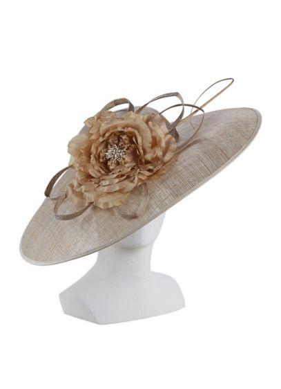 Wide Brim Fascinator Hat - Wedding Accessories