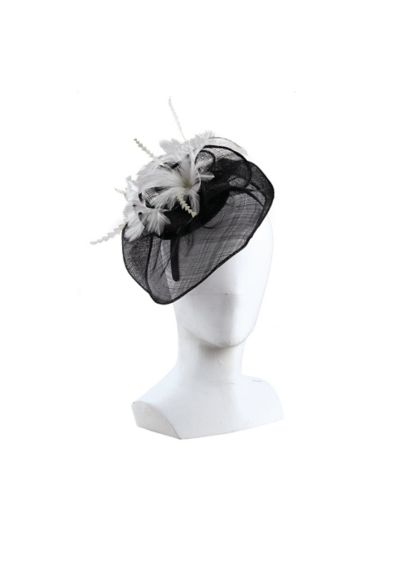 Feather Rosette Fascinator Headband - Wedding Accessories