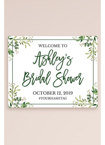 Greenery Personalized Bridal Shower Welcome Sign - Wedding Gifts & Decorations