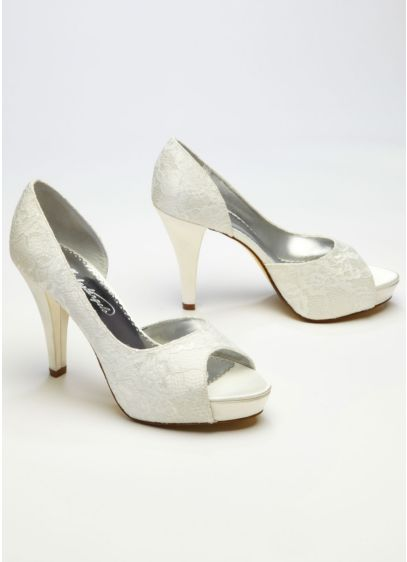 Ivory (Lace Sequin D'Orsay Peep Toe)