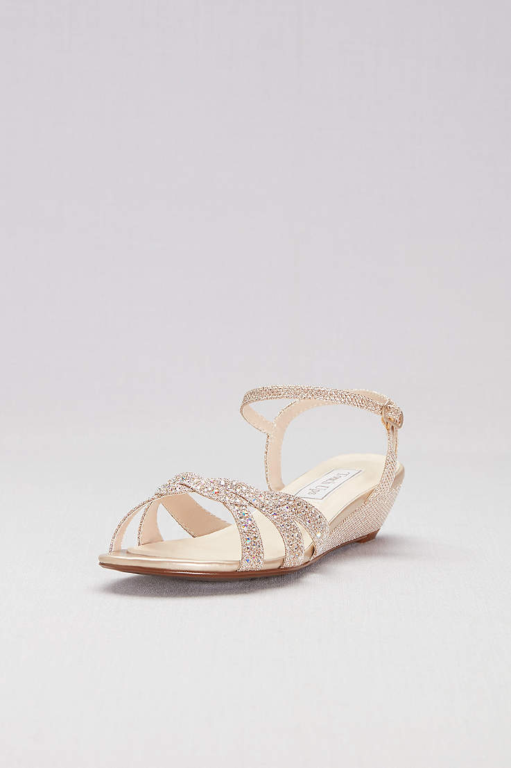 d773ebf151f Champagne Shoes: Heels, Flats and Sandals in Champage Gold | David's ...