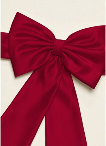 Flower Girl Satin Sash Back Bow with Tails - Wedding Accessories