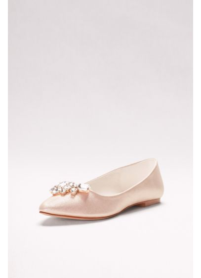 David's Bridal Ivory (Crystal Cluster Pointed Toe Flats)