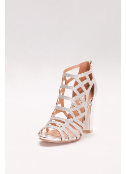 a9a15e1055f Bamboo Grey (Glitter Cage Block Heels)