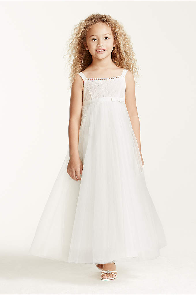 Spaghetti Strap Floor Length Tulle Dress