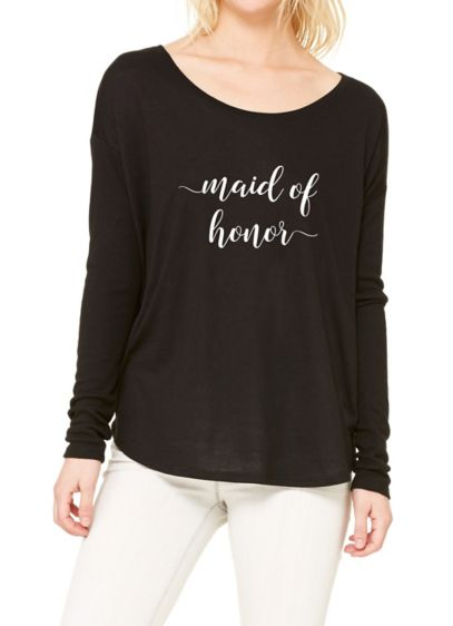 Maid of Honor Calligraphy Shirt - Wedding Gifts & Decorations
