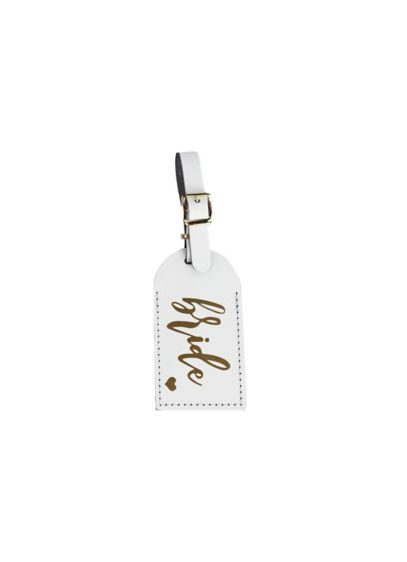 White Bride Luggage Tag - Wedding Gifts & Decorations