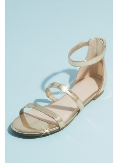 David's Bridal Yellow (Patent Clear Strap Sandals with Adjustable Buckle)