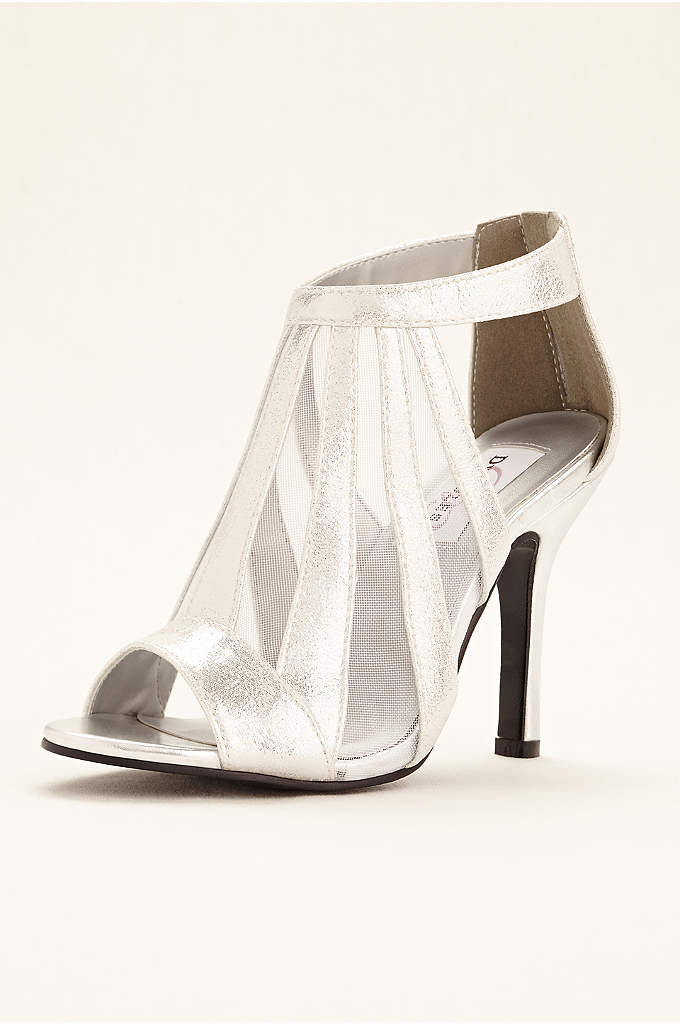 Lotus Metallic Shimmer Bootie - Looking to make a statement? These unique mesh