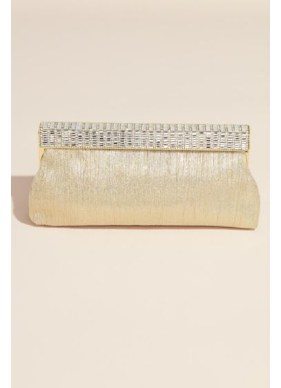 Nina Pleated Clutch with Crystal Trim - Wedding Accessories