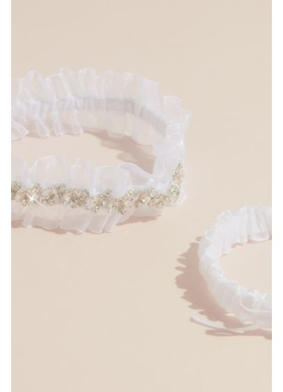 Embellished Crystal Garter Set - Add a little sparkle to your ensemble with