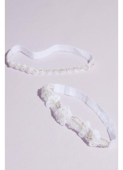 Soft Flower Rhinestone-Embellished Garter Set - Wedding Gifts & Decorations