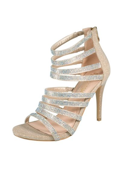 Strappy Cage Heels with Crystal Straps - Wedding Accessories