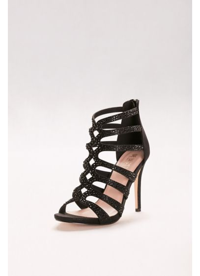 Embellished Strappy Cage Heels - Wedding Accessories