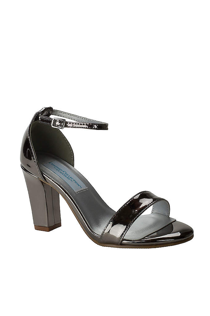 Patent Ankle-Strap Block Heel Sandals - Get ready to dance all night: memory foam