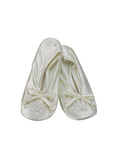 Ivory (Satin Flower Girl Slipper)