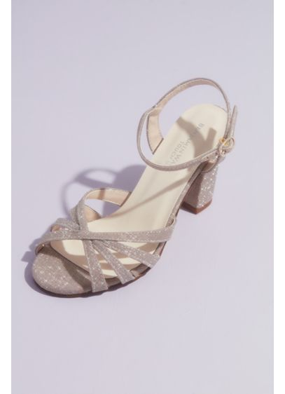 Maeve Glittery Block Heel Sandals - Detailed with a strappy vamp and a sturdy