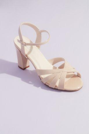 Touch Ups Beige;Grey;Ivory Heeled Sandals (Maeve Glittery Block Heel Sandals)
