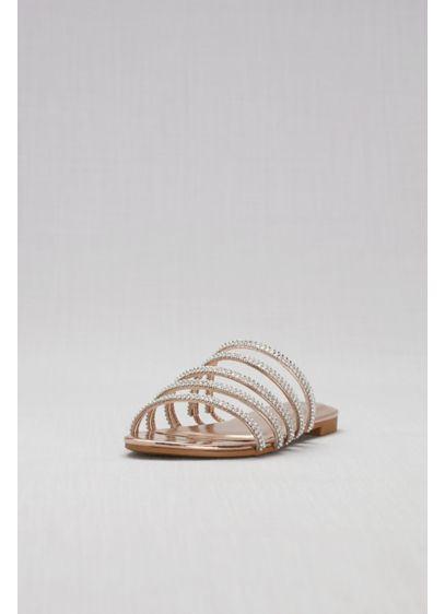 Bamboo Pink (Strappy Jeweled Flat Slides)