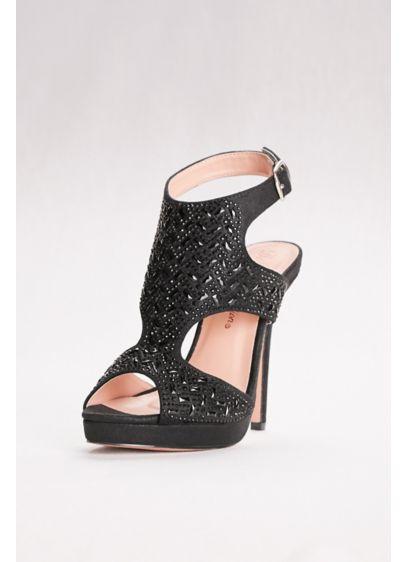 Black (High Heel Embellished Shooties)