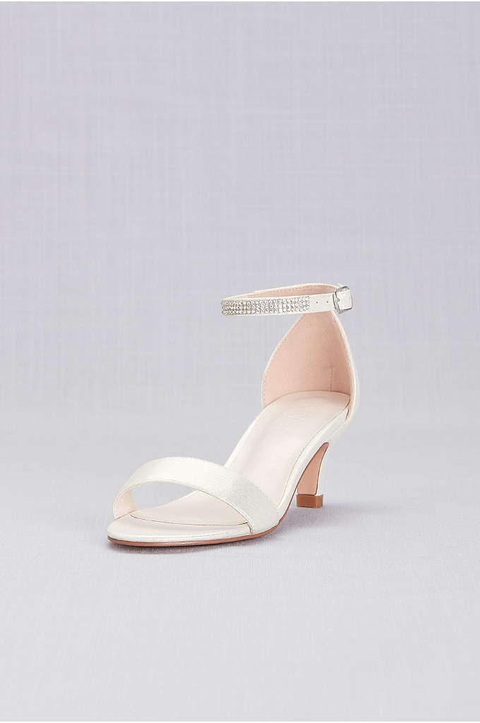 Girls Heeled Sandals with Crystal Strap - Your little lady will feel extra special in