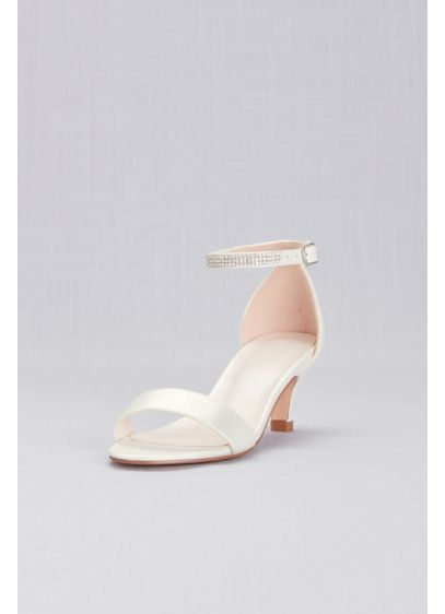 David's Bridal Ivory (Girls Heeled Sandals with Crystal Strap)