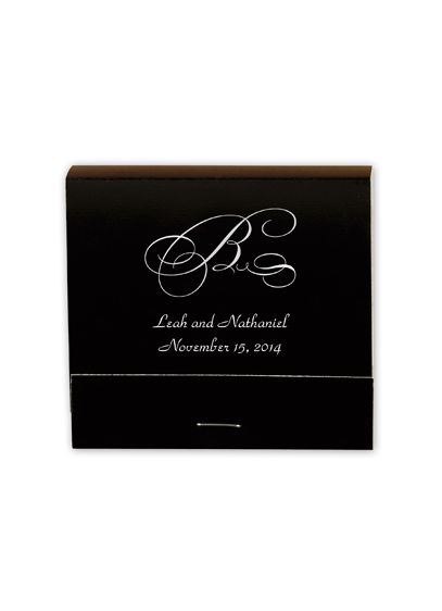 Personalized Match Book with Monogram - Wedding Gifts & Decorations